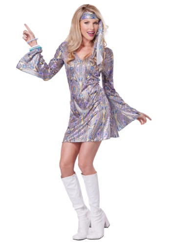 Womens Disco Sensation Dress Costume