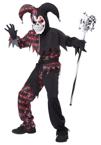 Click Here to buy Kidss Sinister Jester Costume from HalloweenCostumes, CDN Funds & Shipping