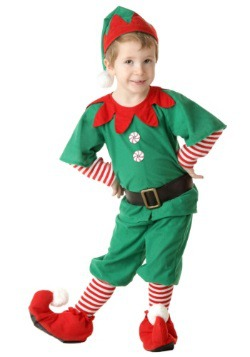 Toddler Happy Christmas Elf Costume