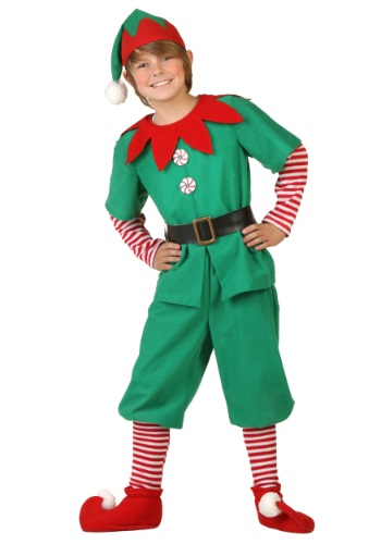 Click Here to buy Kids Holiday Elf Costume from HalloweenCostumes, CDN Funds & Shipping