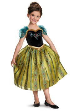 Girls Frozen Deluxe Anna Coronation Gown