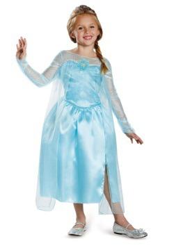 Girls Frozen Classic Elsa Snow Queen Gown
