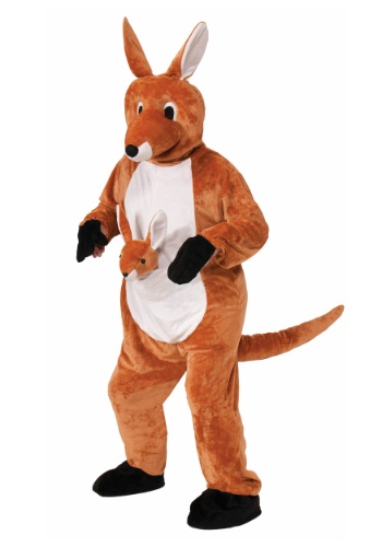 Click Here to buy Jumpin Jenny Kangaroo Mascot Costume from HalloweenCostumes, CDN Funds & Shipping