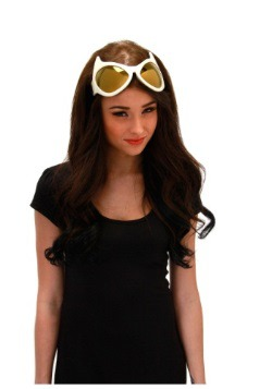 Cat Eye Goggles White and Gold