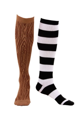 Click Here to buy Knee-High Mismatched Pirate Socks from HalloweenCostumes, CDN Funds & Shipping
