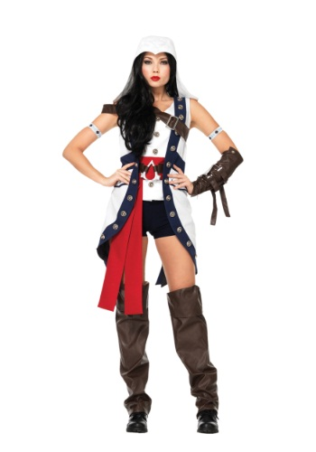 Click Here to buy Assassins Creed Connor Girl Costume from HalloweenCostumes, CDN Funds & Shipping