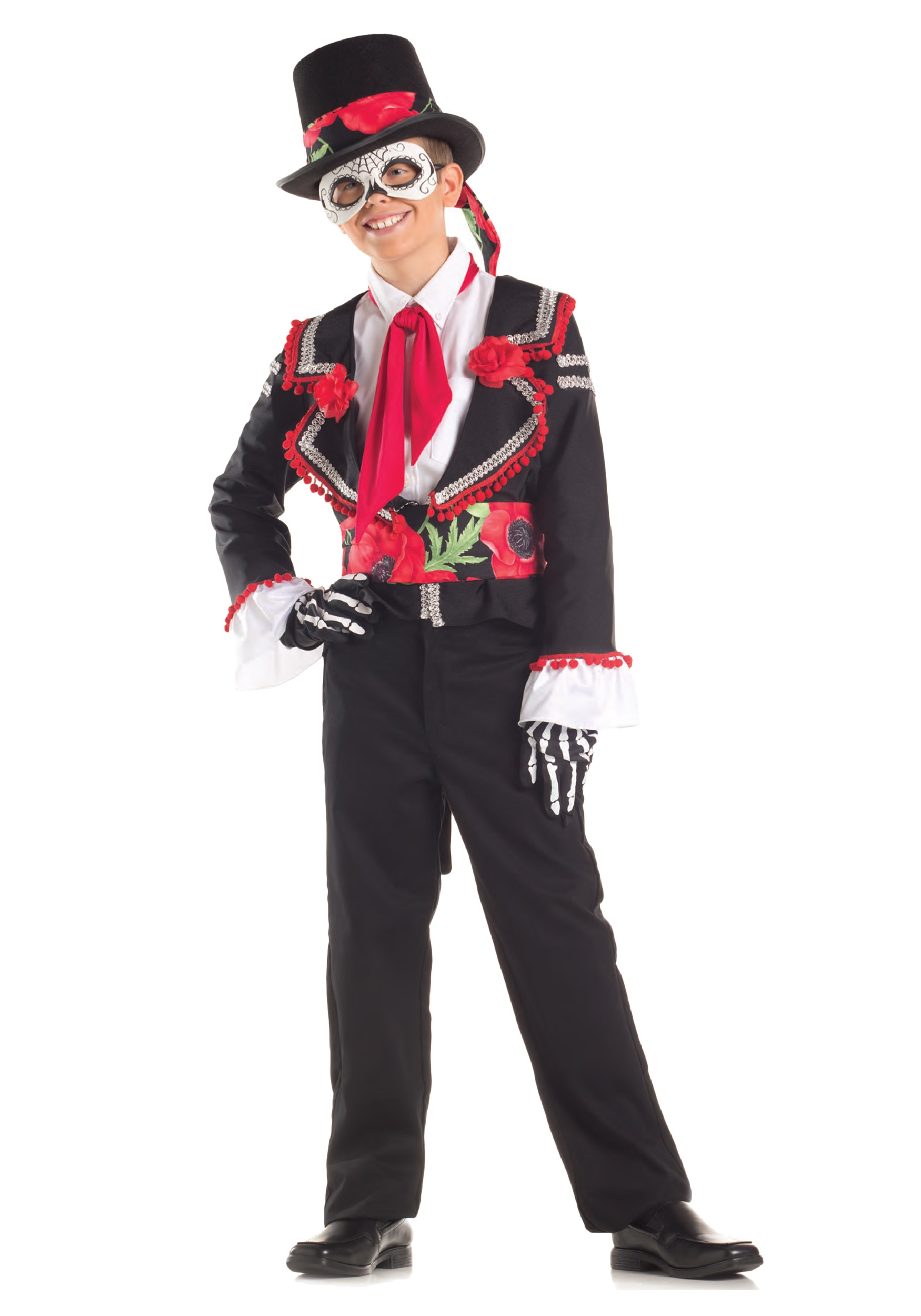 INOpets.com Anything for Pets Parents & Their Pets Child Day of the Dead Costume