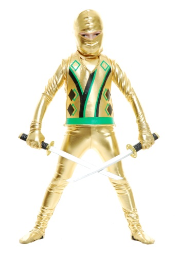Click Here to buy Toddler Gold Ninja Avengers Series III Costume from HalloweenCostumes, CDN Funds