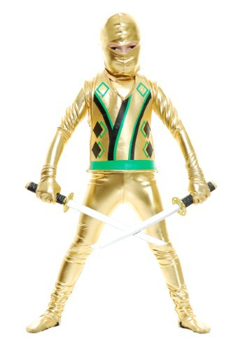 Click Here to buy Kids Gold Ninja Avengers Series III from HalloweenCostumes, CDN Funds