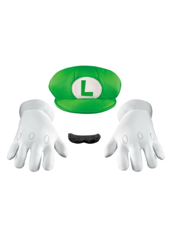 Click Here to buy Luigi Adult Accessory Kit from HalloweenCostumes, CDN Funds & Shipping