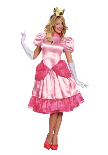 Princess Peach Deluxe Adult Size Costume | Video Game Cosplay
