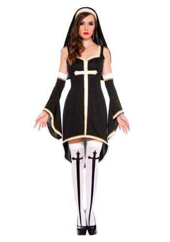 Click Here to buy Womens Sinfully Hot Nun Costume from HalloweenCostumes, CDN Funds & Shipping
