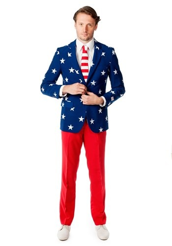 Mens OppoSuits Stars and Stripes Costume Suit