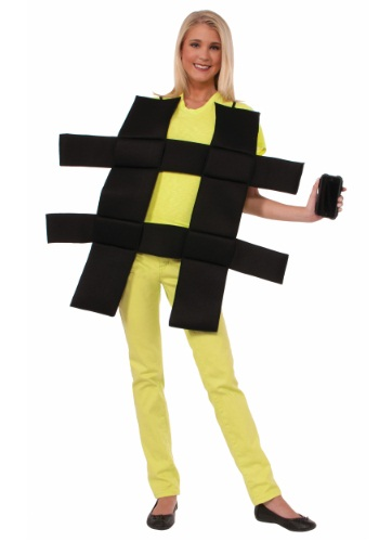 Click Here to buy Hash Tag Costume from HalloweenCostumes, CDN Funds & Shipping