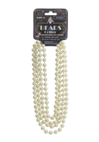 Click Here to buy Ivory Flapper Beads from HalloweenCostumes, CDN Funds & Shipping