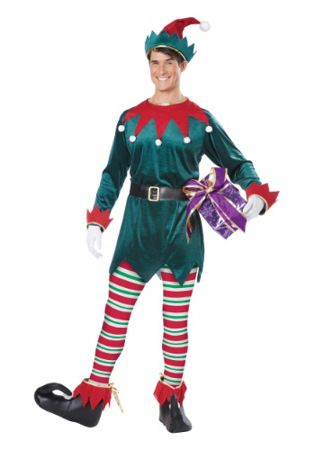 Click Here to buy Adult Christmas Elf Costume from HalloweenCostumes, CDN Funds & Shipping