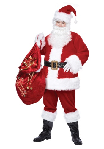 Click Here to buy Santa Suit Deluxe Classic Plus Size Costume from HalloweenCostumes, CDN Funds & Shipping
