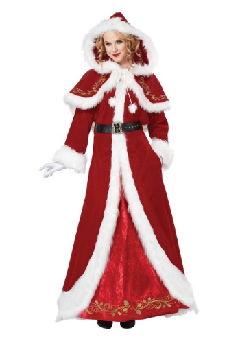 Click Here to buy Deluxe Classic Mrs. Claus Costume from HalloweenCostumes, CDN Funds & Shipping
