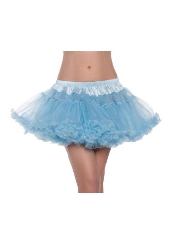 """12"""" Sky Blue 2-Layer Petticoat"""