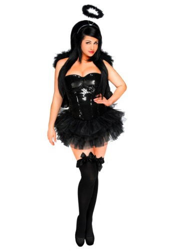 Click Here to buy Womens Dark Angel Corset Costume from HalloweenCostumes, CDN Funds & Shipping