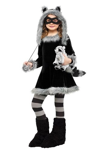 Click Here to buy Sweet Raccoon Girls Costume from HalloweenCostumes, CDN Funds & Shipping