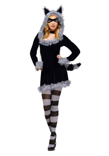 Click Here to buy Racy Raccoon Adult Costume from HalloweenCostumes, CDN Funds & Shipping