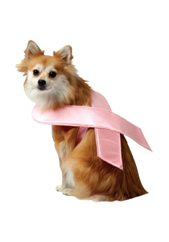 Click Here to buy Pink Ribbon Dog Costume from HalloweenCostumes, CDN Funds & Shipping