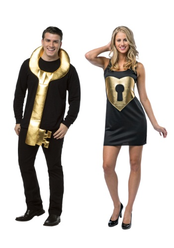 Click Here to buy Lock and Key Couples Costume from HalloweenCostumes, CDN Funds & Shipping