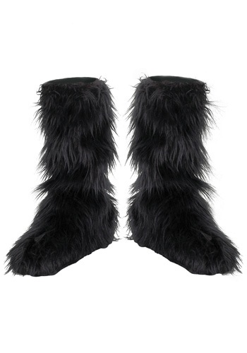Click Here to buy Kids Black Furry Boot Covers from HalloweenCostumes, CDN Funds & Shipping