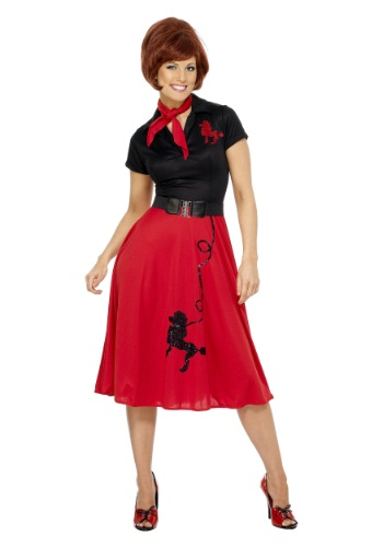 Click Here to buy Womens Plus Size 50s-Style Poodle Skirt Costume from HalloweenCostumes, CDN Funds & Shipping