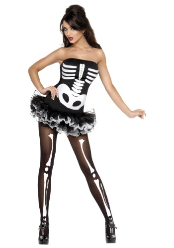 Womens Plus Size Fever Skeleton Costume