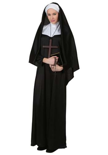 Click Here to buy Adult Traditional Nun Costume from HalloweenCostumes, CDN Funds & Shipping