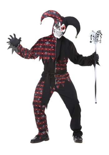 Click Here to buy Adult Sinister Jester Costume from HalloweenCostumes, CDN Funds & Shipping