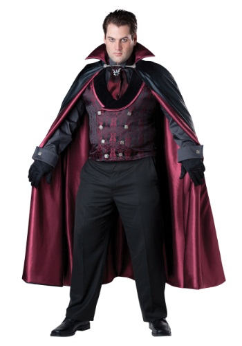 Mens Plus Size Midnight Vampire Costume