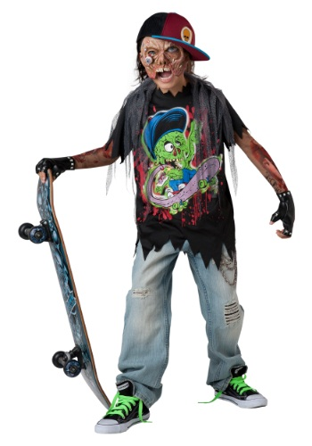 Click Here to buy Zombie Sk8r Kids Costume from HalloweenCostumes, CDN Funds & Shipping