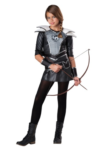 Tween Midnight Huntress Costume | Woman Warrior Costume