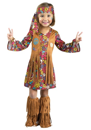Click Here to buy Toddler Peace & Love Hippie Costume from HalloweenCostumes, CDN Funds & Shipping