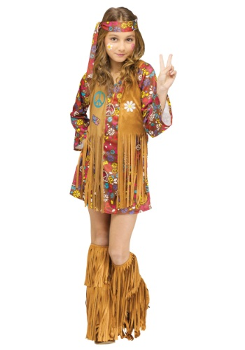 Click Here to buy Peace & Love Hippie Kids Costume from HalloweenCostumes, CDN Funds & Shipping