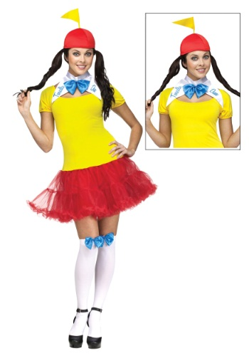 Click Here to buy Sexy Tweedle Dee/Dum Adult Costume from HalloweenCostumes, CDN Funds & Shipping