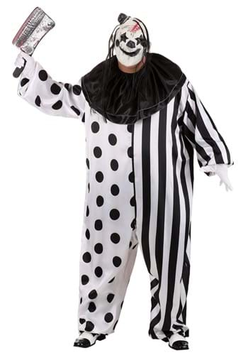 Click Here to buy Killer Clown Plus Size Costume W/ Clown Mask & Jumpsuit from HalloweenCostumes, CDN Funds & Shipping