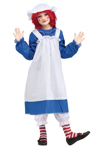 Click Here to buy Raggedy Ann Classic Kids Costume from HalloweenCostumes, CDN Funds & Shipping