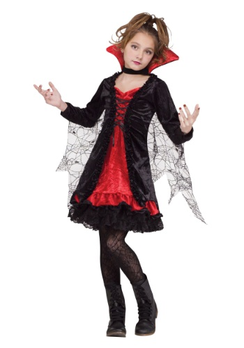 Click Here to buy Vampire Girl Kids Costume from HalloweenCostumes, CDN Funds & Shipping