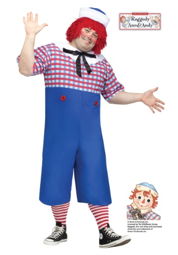 Click Here to buy Raggedy Andy Plus Size Adult Costume from HalloweenCostumes, CDN Funds & Shipping