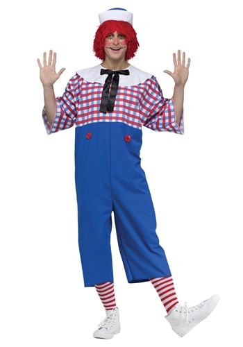 Click Here to buy Raggedy Andy Adult Costume from HalloweenCostumes, CDN Funds & Shipping