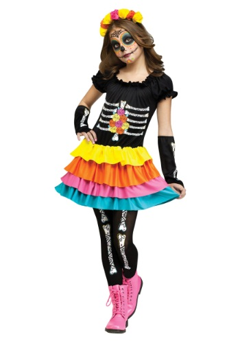 Click Here to buy Dia De Los Muertos Kids Costume from HalloweenCostumes, CDN Funds & Shipping