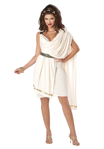 Click Here to buy Womens Deluxe Classic Toga Costume from HalloweenCostumes, CDN Funds & Shipping