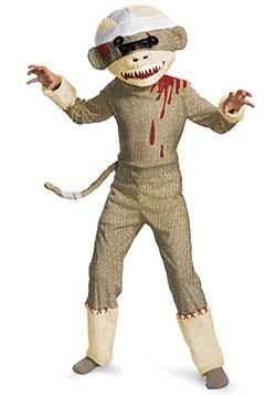Kids Zombie Sock Monkey Costume