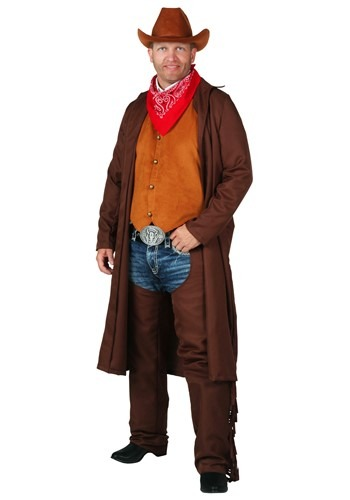 Click Here to buy Plus Size Rancher Cowboy Costume from HalloweenCostumes, CDN Funds & Shipping