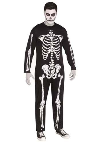 Click Here to buy Plus Size Scary Skeleton Costume from HalloweenCostumes, CDN Funds & Shipping