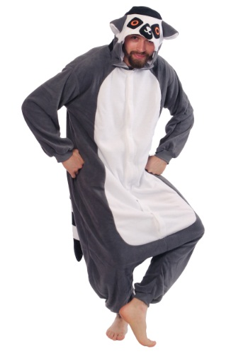 Adult Lemur Pajama Costume